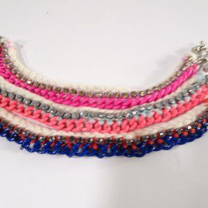 J.Crew Pop of Color Enamel Crystal Bracelet Set